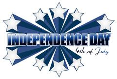 Independence day 4th of july sign Stock Illustration