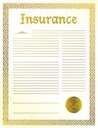 Insurance legal document illustration design Stock Illustration