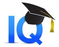 Intelligence quotient iq graduation tassel Stock Illustration