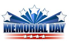 Stock Illustration of an illustration for memorial day with the american flag colors isolated over