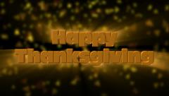 Happy Thanksgiving greeting - stock footage