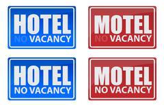 Retro hotel and motel signs illustration design Stock Illustration