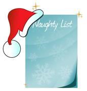 santa's naughty list - stock illustration