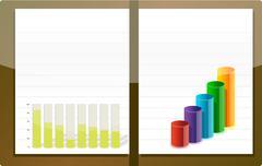 Stock Illustration of business agenda illustration design over white