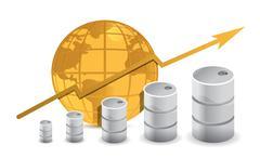 Stock Illustration of oil trading concept illustration design