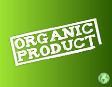 Stock Illustration of white organic product over a light green background.