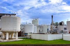 Typpeä kemian laitos tehtaan Kuvituskuvat
