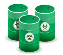 poisonous barrels illustration design - stock illustration