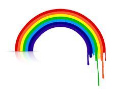 Stock Illustration of colorful ink rainbow illustration design