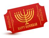 Stock Illustration of happy hanukkah event ticket illustration