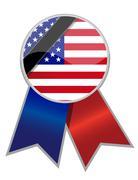 Stock Illustration of us ribbon with memorial black stripe