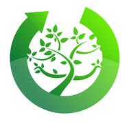 Stock Illustration of tree cycle recycle concept illustration design on white