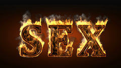 Sex with fire and smoke. Alpha matted  Stock Footage