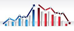 Stock Illustration of up and down financial chart illustration design