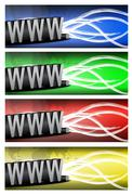 Color variation internet and wires. Stock Illustration