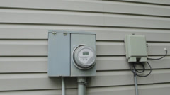 Itron Electricity Meter Timelapse - Dolly In Stock Footage