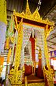 Stock Photo of Pulpit for thai monk to give a sermon to buddhist in buddhist holy day