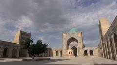 Silk Road, Bukhara mosque, timelapse, Uzbekistan, Central Asia Stock Footage