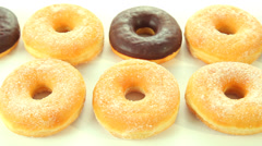 Donuts background - stock footage