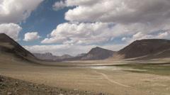 Pamir mountain valley in timelapse, Tajikistan Stock Footage