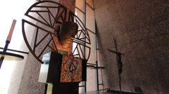 Anima Christi sculpture in Chapel of Holy Cross Stock Footage