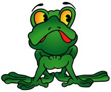 Green Frog - stock illustration