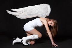 woman angel - stock photo