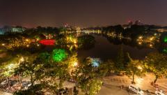4k - HANOI HOAN KIEM LAKE - VIETNAM Stock Footage