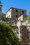 turkish village of doganbey - stock photo