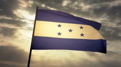 Flag Honduras 03 Stock Footage