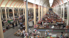 Bazaar in beautiful Soviet style building, timelapse Stock Footage
