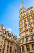 architecture in buenos aires - stock photo