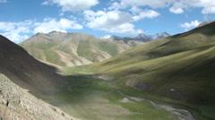 Meadow in Kyrgyzstan, timelapse - stock footage