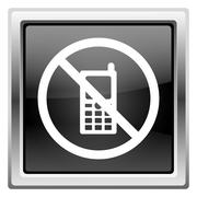 mobile phone restricted icon - stock illustration