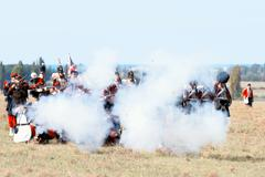Historical reenactment of the Crimean War - stock photo