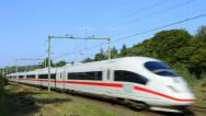 Stock Video Footage of ICE high speed train