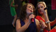 Karaoke girls Stock Footage