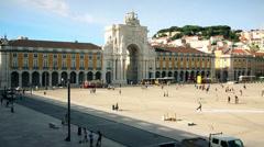 Lisbon city Terreiro do paco Stock Footage
