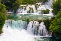 Waterfalls on krka river. national park, dalmatia, croatia Stock Photos