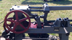 Vintage Stationary Engine Stock Footage