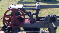 Stock Video Footage of Vintage Stationary Engine
