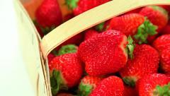 Strawberry basket Stock Footage