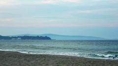 Sea at sunset Stock Footage