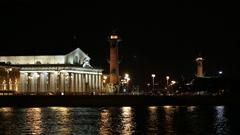 Saint Petersburg night 2 Stock Footage