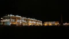 Saint Petersburg night Stock Footage