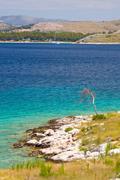 Panoramic views of the croatian coast, dalmatia Stock Photos