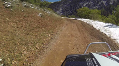 Driving 4x4 RZR muddy mountain road fast timelapse HD 3074 - stock footage