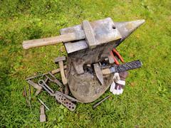 blacksmith's equipment - stock photo