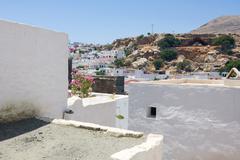 Lindos, rhodes, greece Stock Photos