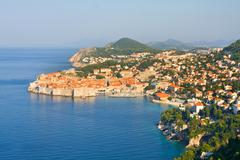 the old town of dubrovnik, sunrise, early morning,  croatia - stock photo
